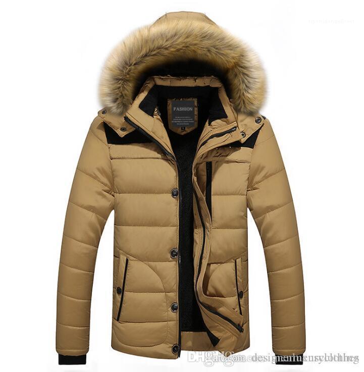 Tasarımcı Aşağı ceketler Kürk Tasarımı Polar Sıcak Kalın Coats Giyim KIŞ Erkekler Kapşonlu
