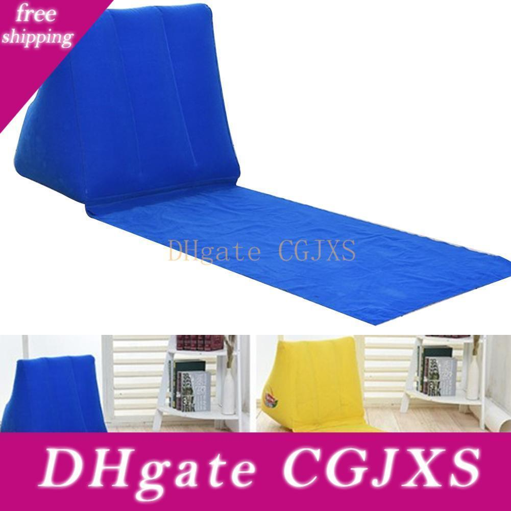Camping Rest Outdoor Beach Mat Chair Folding Leisure Mattress Waterproof With Inflatable Pillow Lounger Cushion Travel Air Bed