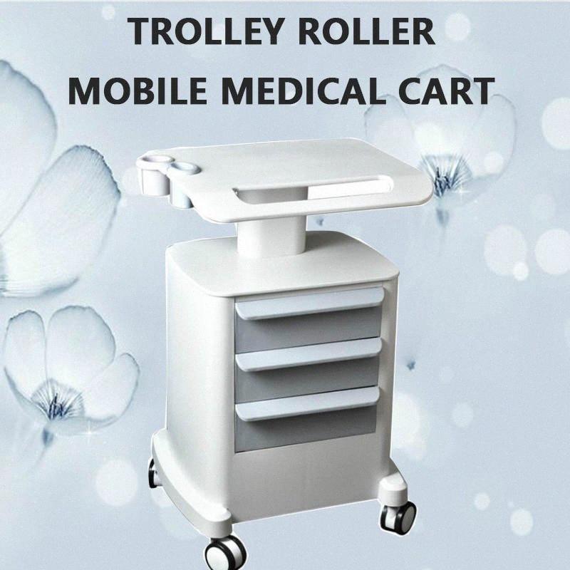 Профессиональные вагонетки Roller Мобильная медицинская Корзина с розыгрышей Собранный держатель для Салон красоты Спа HIFU машина tEz9 #