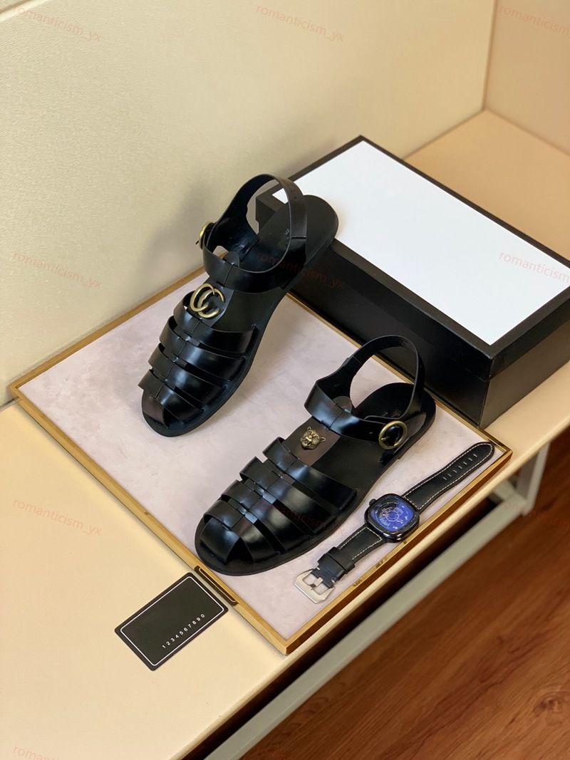 Gucci sandals 2020 رجال الأعلى الصنادل المصارع الصيف شاطئ شقق أحذية السيدات تو فتح الروماني الأسود الصنادل Sandalias موهير كبيرة الحجم 38-46