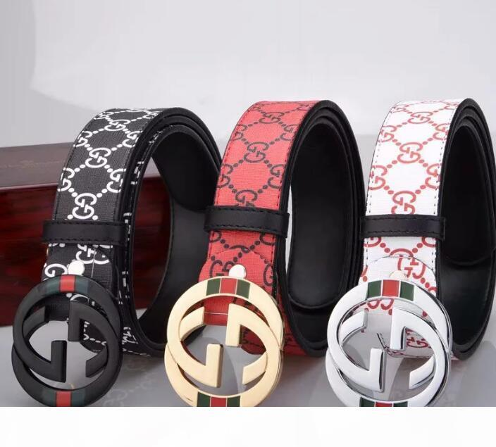 2019 degli uomini di disegno della cinghia e le donne cinture moda di lusso Genuine Leather Cinture cinghia di marca vita Oro Argento Nero G fibbia A5325