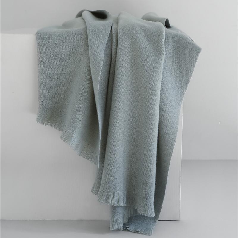 LunaDolphin Femmes de luxe écharpes en laine couleur unie élégante d'hiver Tippet Pashmina chaud Couverture souple Châle Big Wrap Thicken écharpe