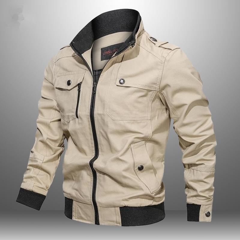 Повседневная куртка мужчин 2020 осень Army Куртки мужские пальто Мужской зима Верхняя одежда ветровка Slim Fit Стенд воротник пальто Мужской