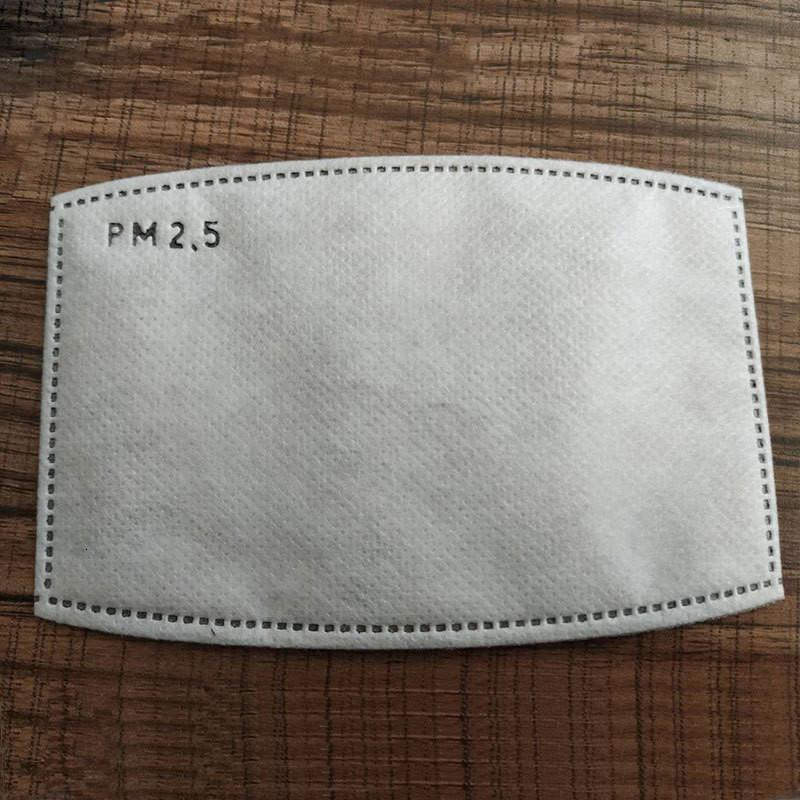 Staubdichtes PM2.5-Schutzfilter 5-Schicht-Aktivkohlefilter Smog Anti-Nebel wiederverwendbarer Maske Dichtung 2 Größe für Erwachsene Kinder