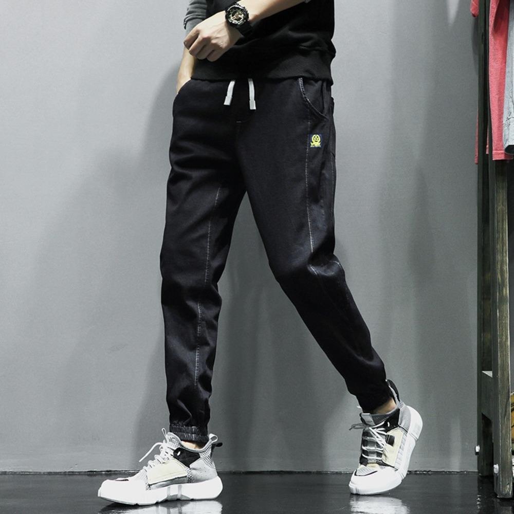 yagvE Primavera jeans casual casuais 2020 Novas solta para calças juvenis dos homens coreano homens estiramento e calças de brim