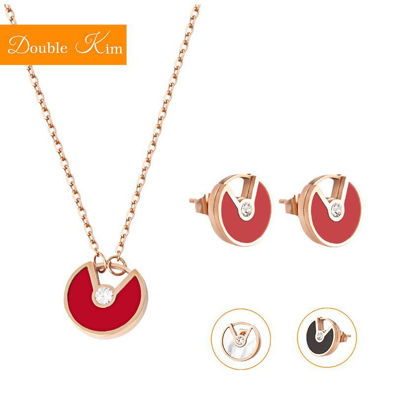 Volare collana orecchini piattino set di gioielli di titanio d'avanguardia di modo delle donne del regalo di compleanno Dropshipping