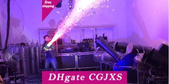 رخيصة الثمن الدعامه بقيادة CO2 أضواء دي جي بندقية 3meter بعد 6 خرطوم بقيادة CO2 جيت آلة DMX آلة المرحلة تأثير تبادل لاطلاق النار -8meter Llfa