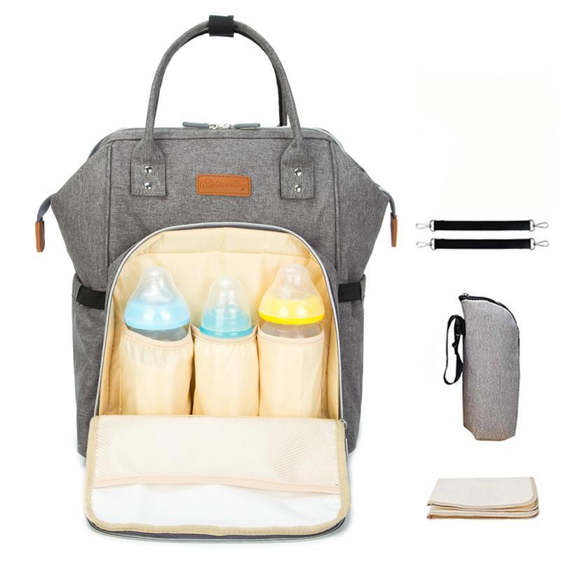 Мода пеленка мешка мумия подгузник мешки большая емкость путешествие рюкзак для родильного ребенка водонепроницаемого мешка женщин по уходу за ребенком