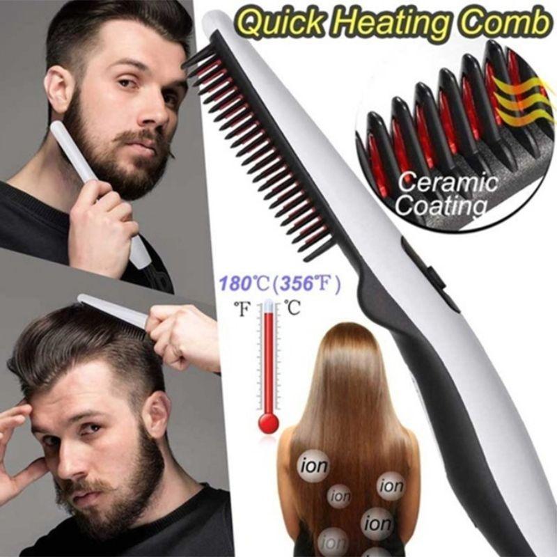 أدوات الرجال النساء متعدد الوظائف الكهربائية التصميم مشط السريع التدفئة شعر اللحية فرد فرشاة صالون تصفيف الشعر ميناء السفر