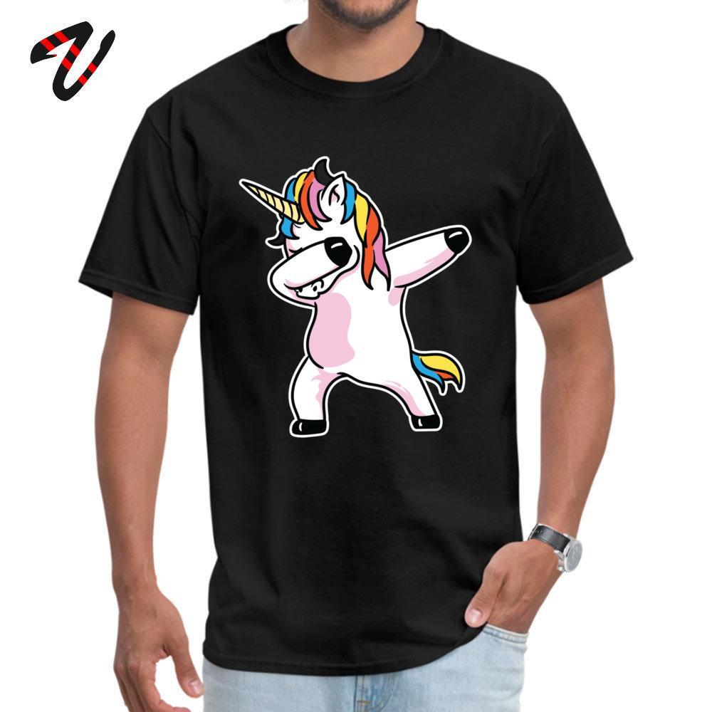 Erkekler Yaz için vurma Unicorn Gömlek tişörtleri Boş Başlangıç D Kol Moda O-Boyun Kanada Kumaş Tişörtlü Klasik Tişörtlü / Güz