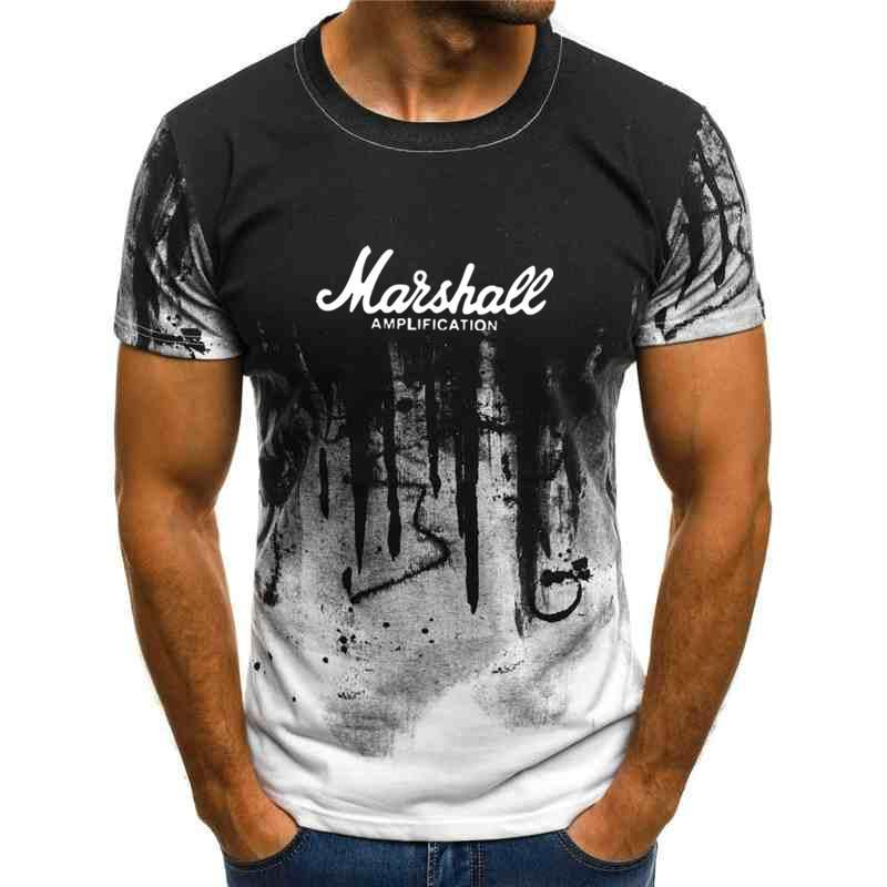 venta caliente tapiz estilo de la calle camiseta de hip hop 2020 verano Marshall camiseta de manga corta de los hombres