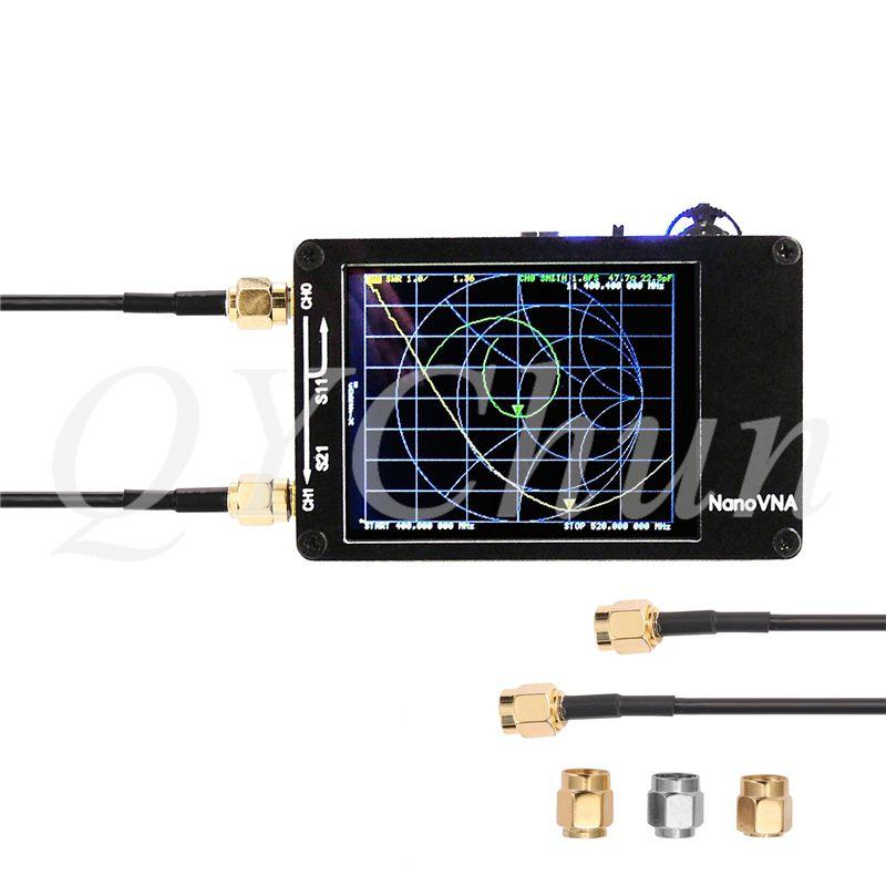 NanoVNA Analyseur de réseau vectoriel MF HF VHF UHF antenne Analyseur Ondes Table ondes courtes
