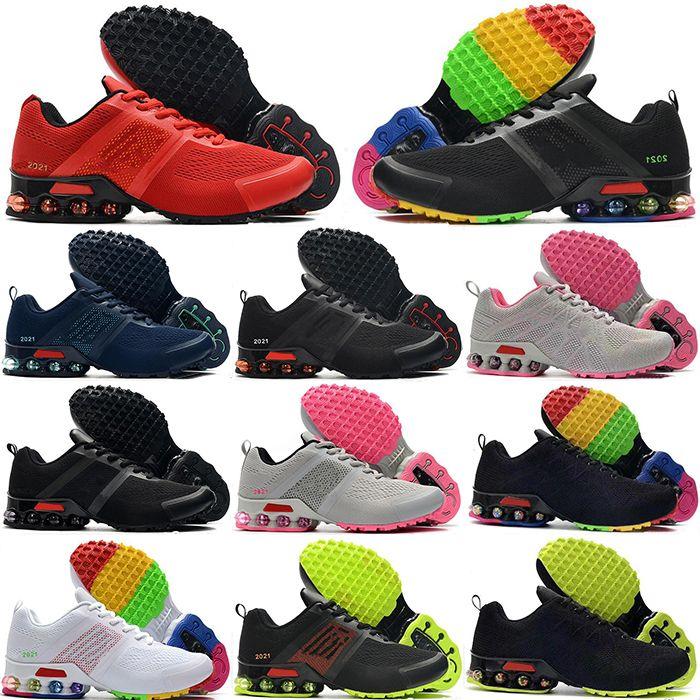 2021 Yeni Reax Run erkek Moda Koşu Ayakkabıları Işık Gri Maça Pembe Bayanlar Koşu Koşu Kutusu ile Jogging
