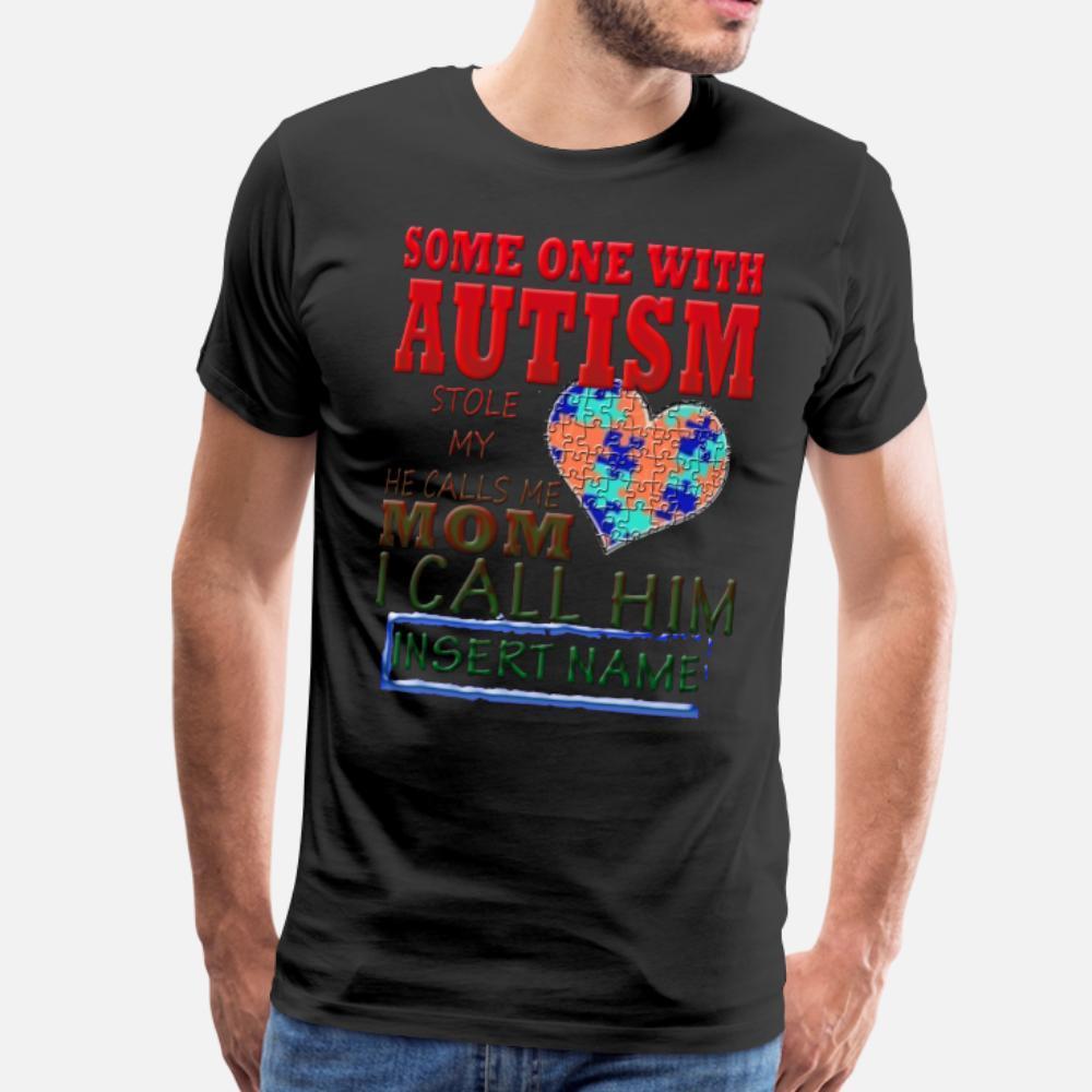 Вставьте Вашу Аутизм Kid Na тенниска мужчины напечатанного размера с коротким рукавом S-3XL Уникального подарок нового стиля лето новизна рубашка