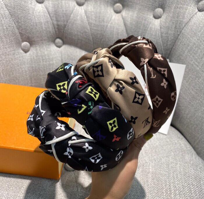 neue Stirnband Haarschmuck koreanische Version von der Mitte des Lochs verknotet Knoten Breitseite Stirnband koreanischen Kopfbedeckungen Hairpin sli + box