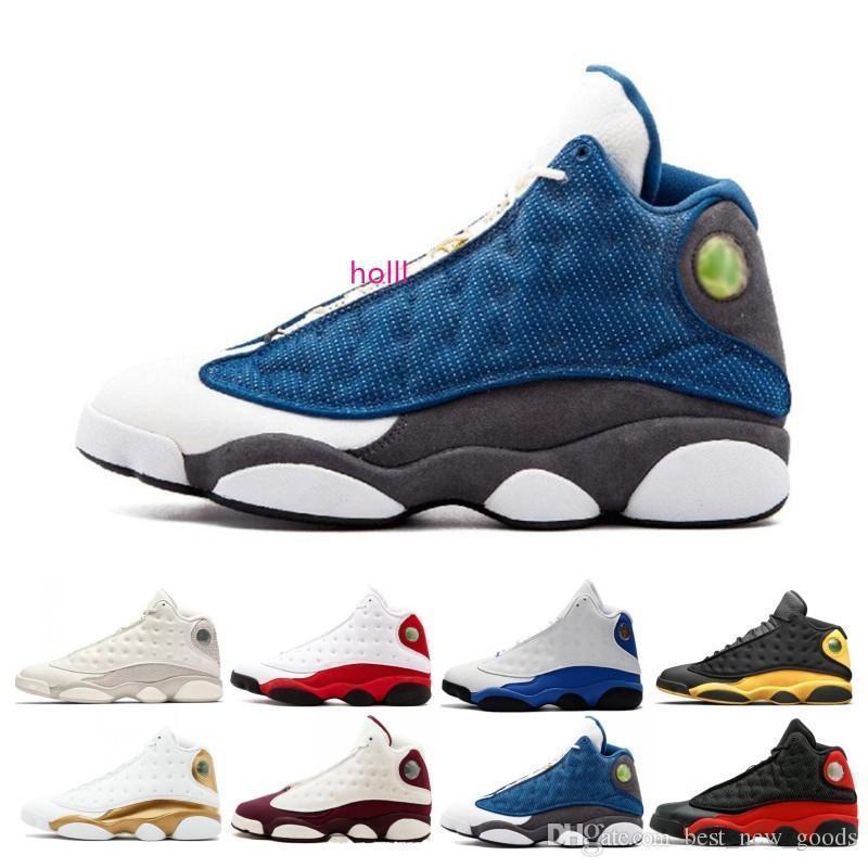 13s 13 zapatos de baloncesto de los hombres zapato atlético Deportes MELO clásico Retros Trainer Chicago Bred DMP trigo oliva Marfil Negro Gato XIII zapatillas de deporte