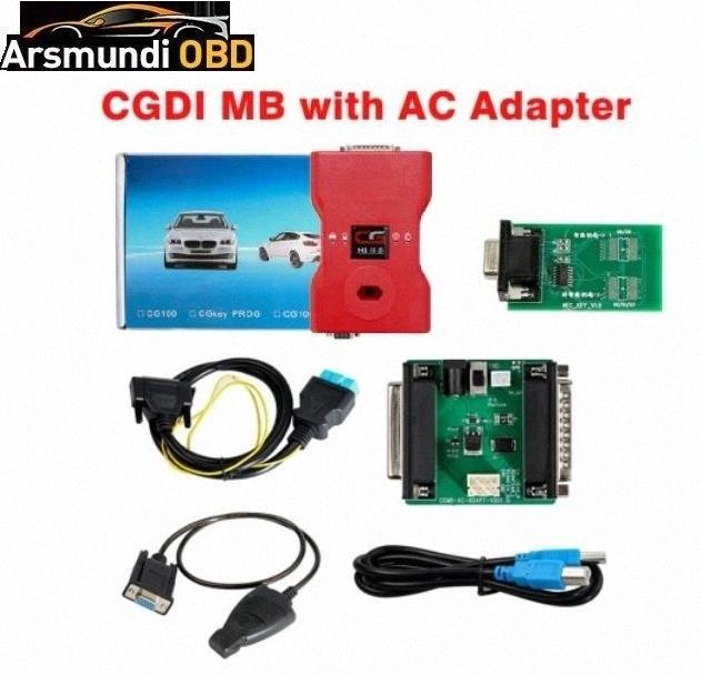 [UK Ship No Tasse] CGDI MB programmatore chiave con adattatore AC Lavora con W164 W204 W221 W209 W246 W251 W166 di dati tramite OBD JgWH #
