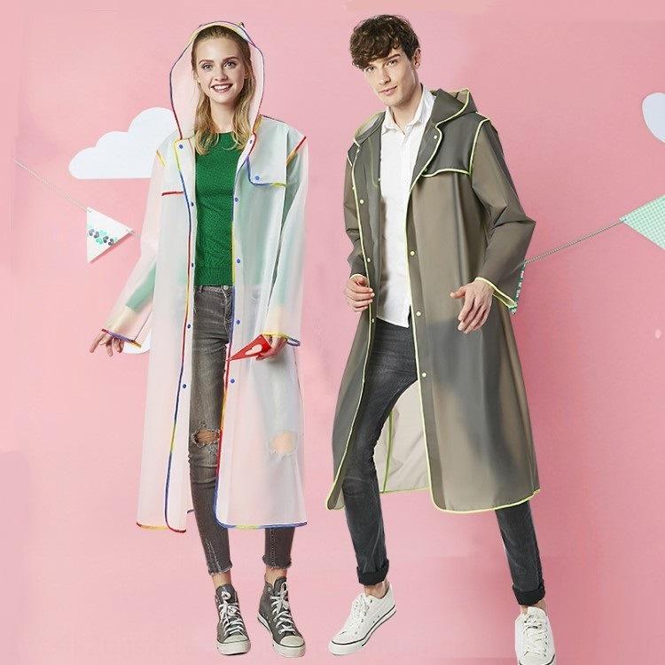 eva moda kalınlaşma uzun açık yürüyüş seyahat yetişkin eva şeffaf moda yağmurluk şeffaf kalınlaşma kaplı l kalınlaşmış kaplı