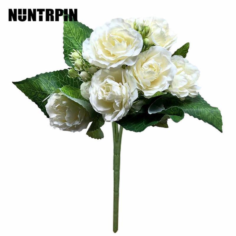 10heads Artificial Peony Bouquet Simulação Decoração Floral Falso casamento Flower Bouquet Home Decor Hot
