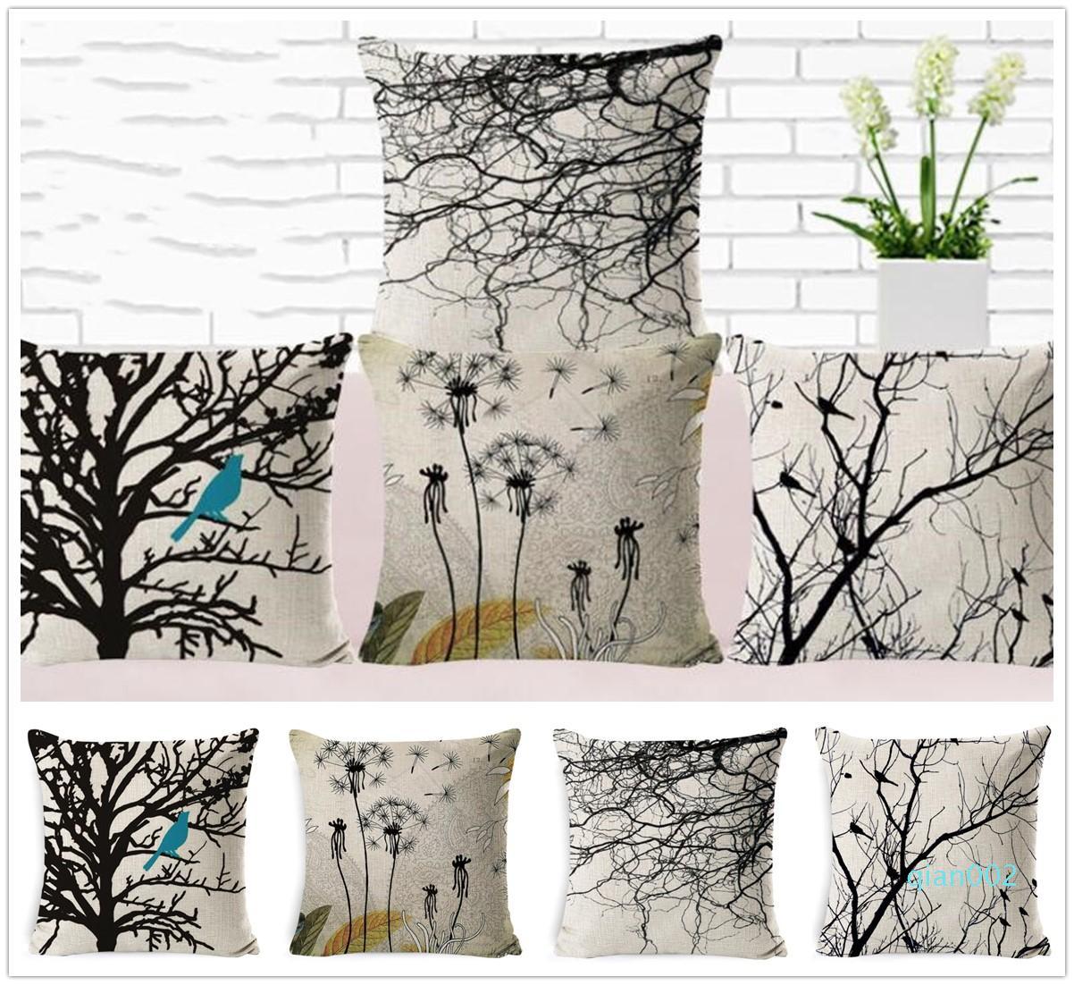New Vintage Preto árvores mortas Padrão fronha de almofada Presentes Tampa Home Bed Decoração frete grátis