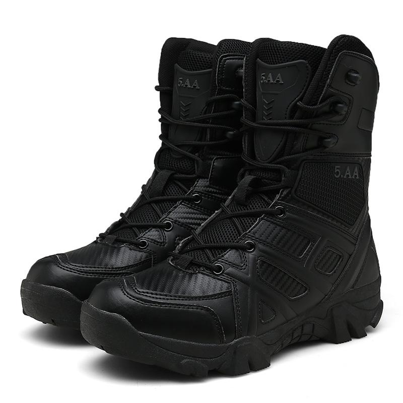 2020 especial Desert força de combate Botas Homens Moda Couro Tactical Waterproof Tornozelo Botas Sapatos HX-041