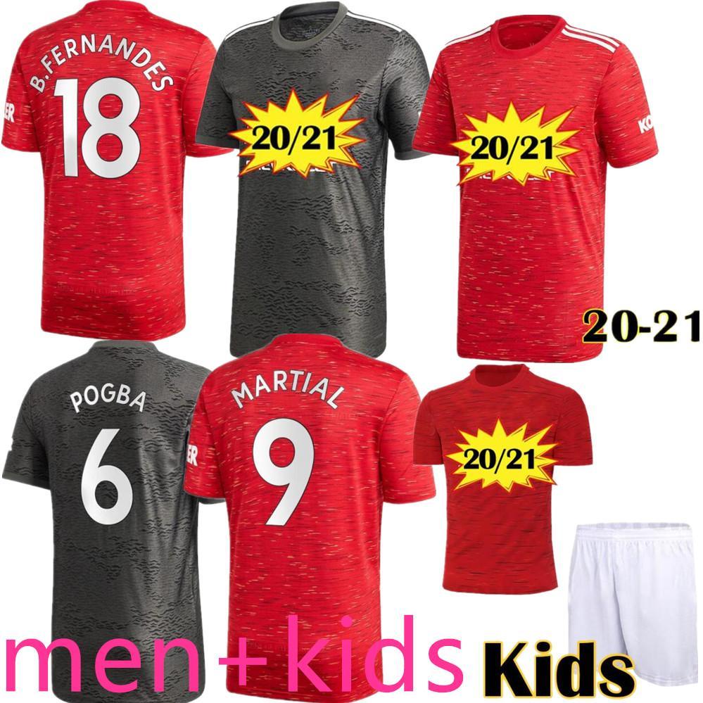 Manchester 2020 2021 uniu UTD jerseys BRUNO FERNANDES jérsei de futebol MARCIAL Rashford JAMES camisas de futebol 20 21 homem + crianças equipamentos kit