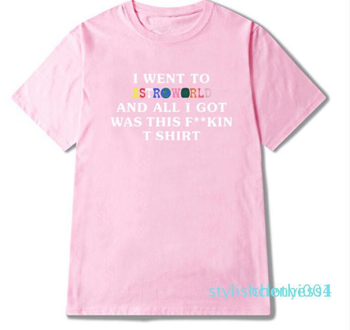 Astroworld Rapper Travis Scott Male T-Shirt High Street Letter Print Tees Tops Männer Frauen Mode Street T-Shirt S004