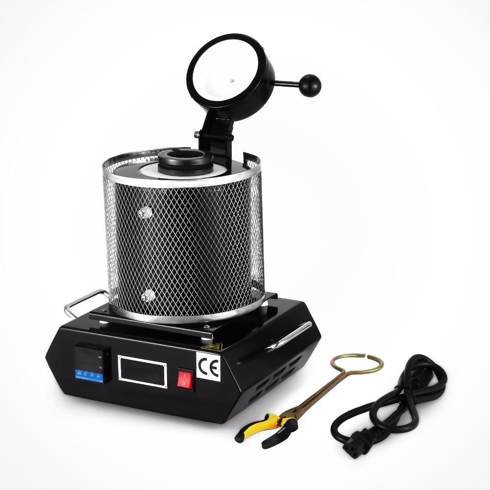Digital-automatische 3kg Schmelzofen für Melt Schrott Silber Gold 2100W Gold Silber Kupfer Schmelzmaschine