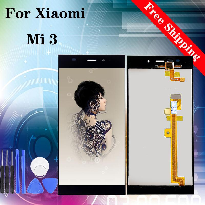 """5.0"""" High Quality LCD For Xiaomi Mi 3 m3 LCD Display Touch Screen Digitizer Assembly Replacement Black White"""