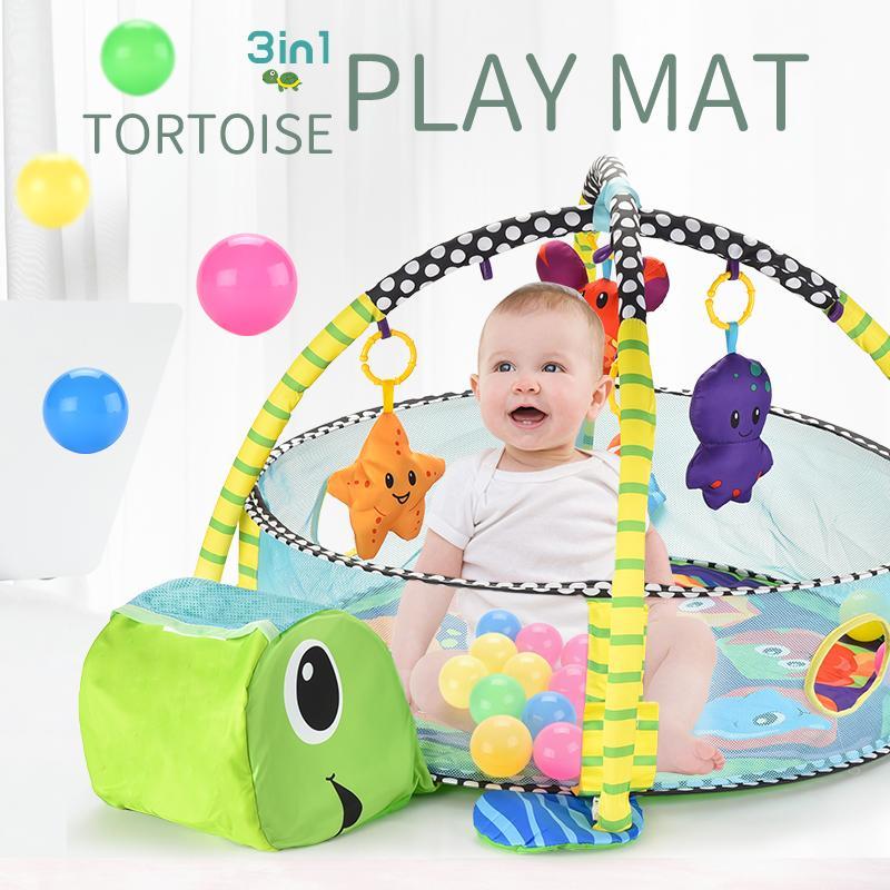 3in1 del gioco del bambino Mat Scherma Ocean Pool gioco dei giocattoli del fumetto Coperta sfera della tartaruga modello pieghevole Crawling Tenda Gift Pool Pit