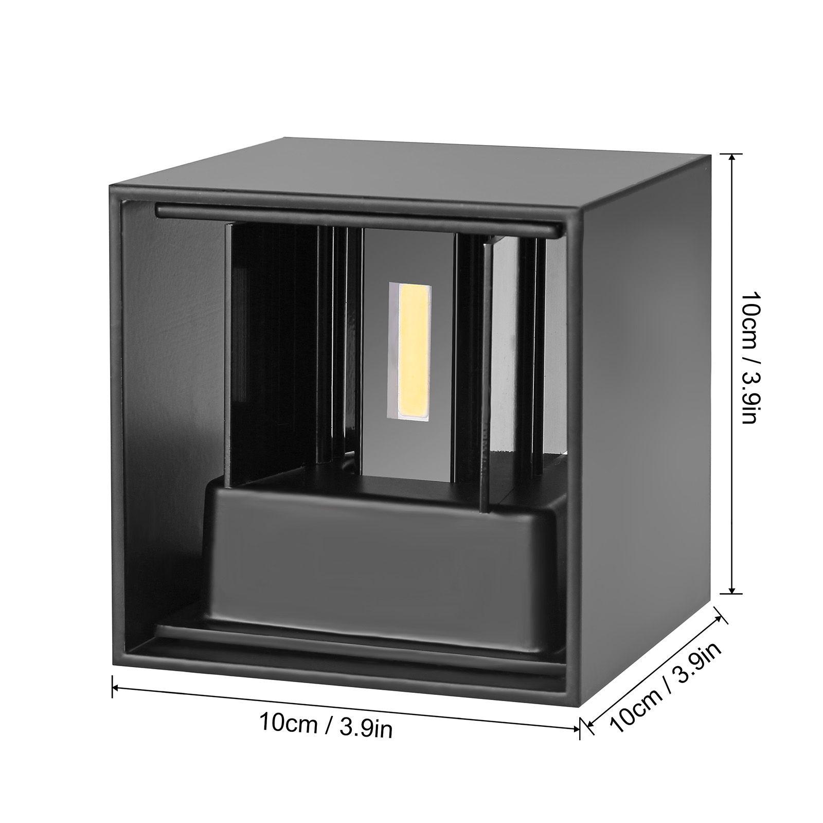 7W LED Lampada de alumínio Wall Light Waterproof COB LED Lâmpada Wall Light Modern Home iluminação interior decoração ao ar livre 220V AC