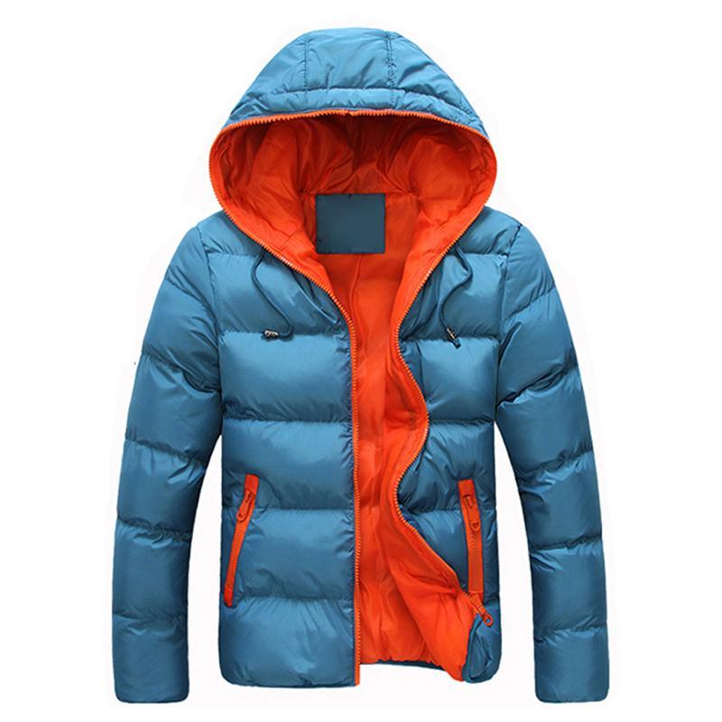 Capa Caliente alta calidad grueso de los hombres masculino nieve Parkas Ropa de invierno prendas de vestir exteriores más el tamaño 4X invierno con capucha de la cremallera de la chaqueta