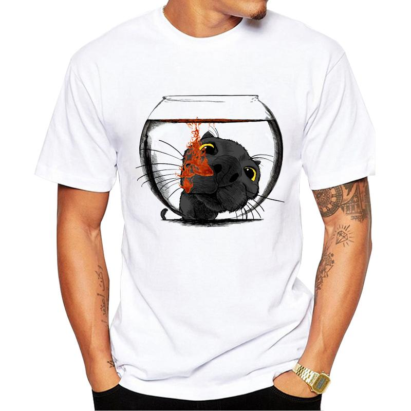 TEEHUB 2020 Moda Color Drop Homens Impresso T-Shirt Cat T-shirts casual tops Verão manga curta Tees