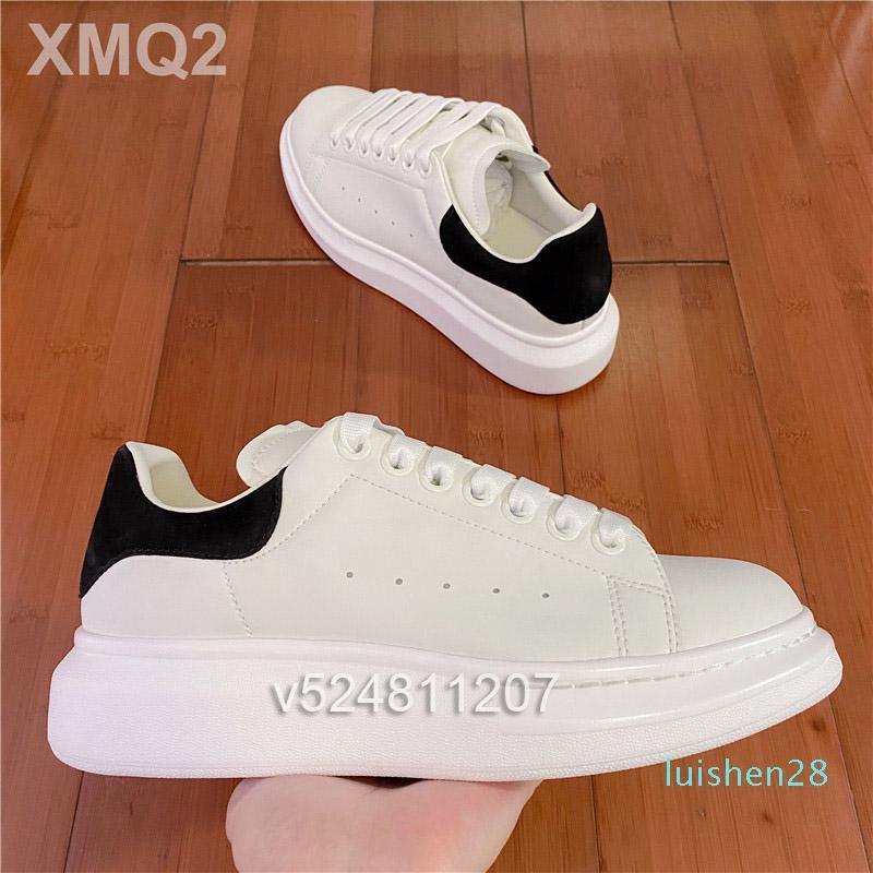 Os homens novos sapatos da moda Casual Couro Suede Mulheres Lace Up Tripler Platform Sole Sneakers Branco Preto calçados casuais rf L28