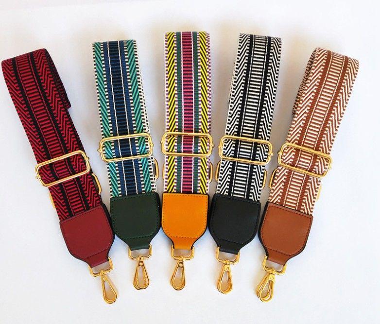 أزياء المرأة الشهيرة مصمم قابل للتعديل حزام الكتف رسول حقيبة الشريط الملون للنساء 130