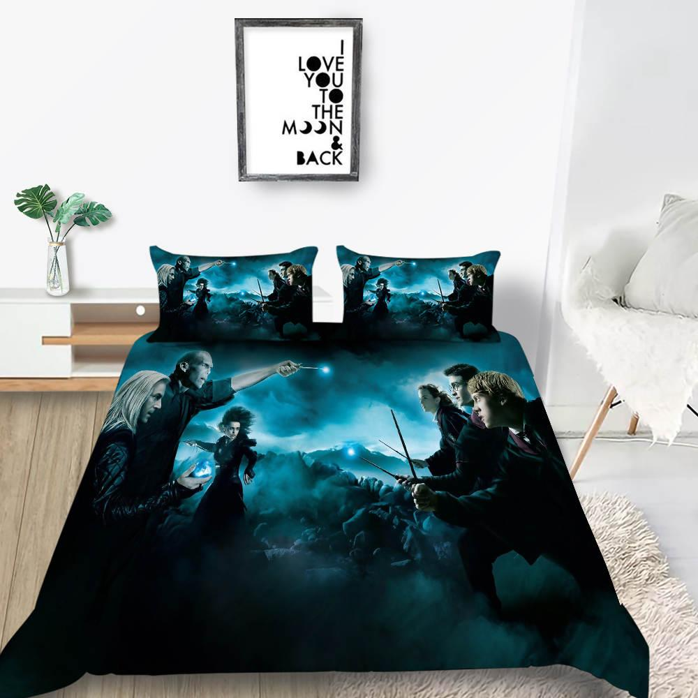 3D Cool Printing Bedding Set Creative Harry Potter Design Duvet Cover Queen Twin Full Single Double Unique Bed Cover with Pillowcase