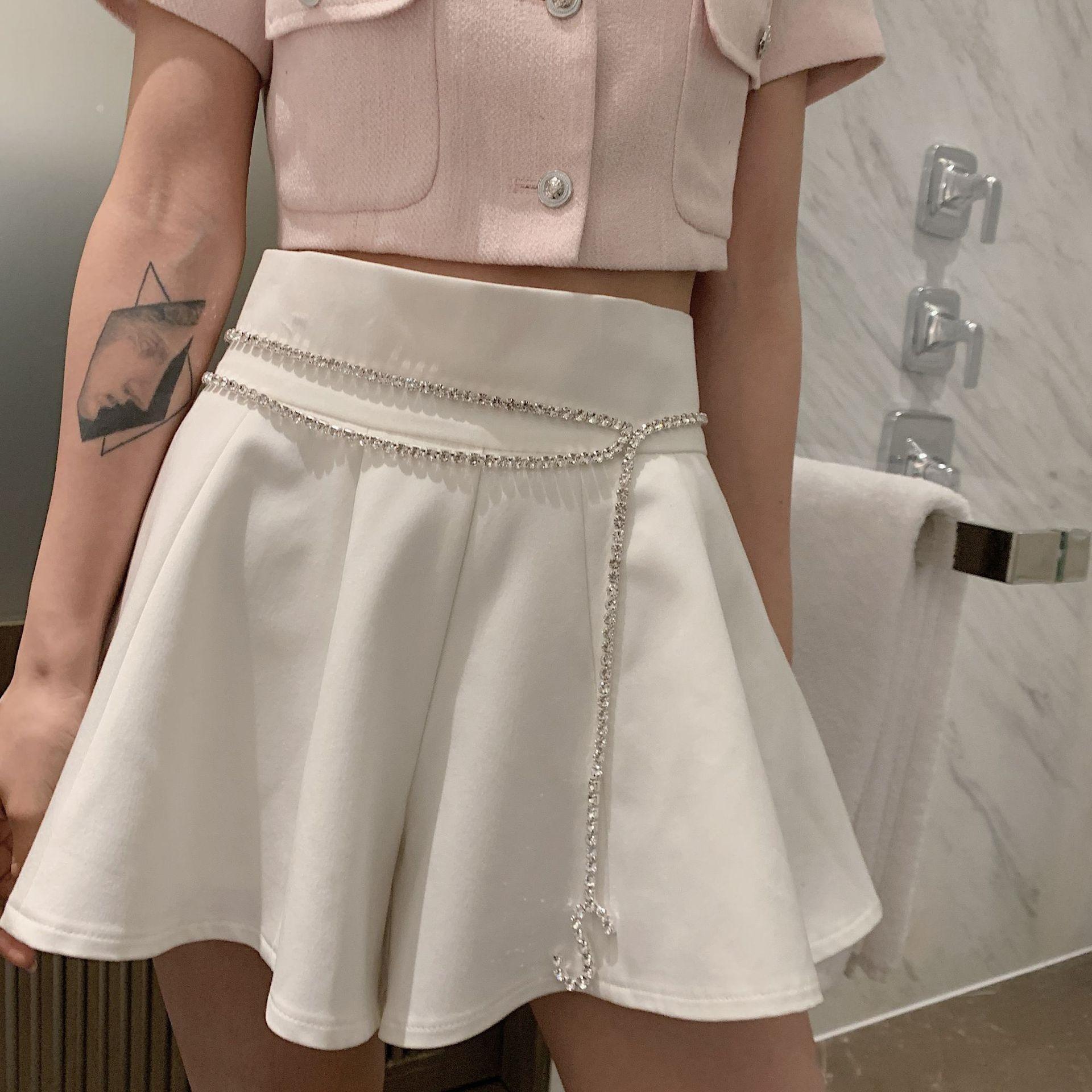 XlmCy ors6K pantalons vêtements pour femmes 2020 d'été et f nouvelle élégante minceur tout match volanté parfum haut pantalon en forme une jupe taille
