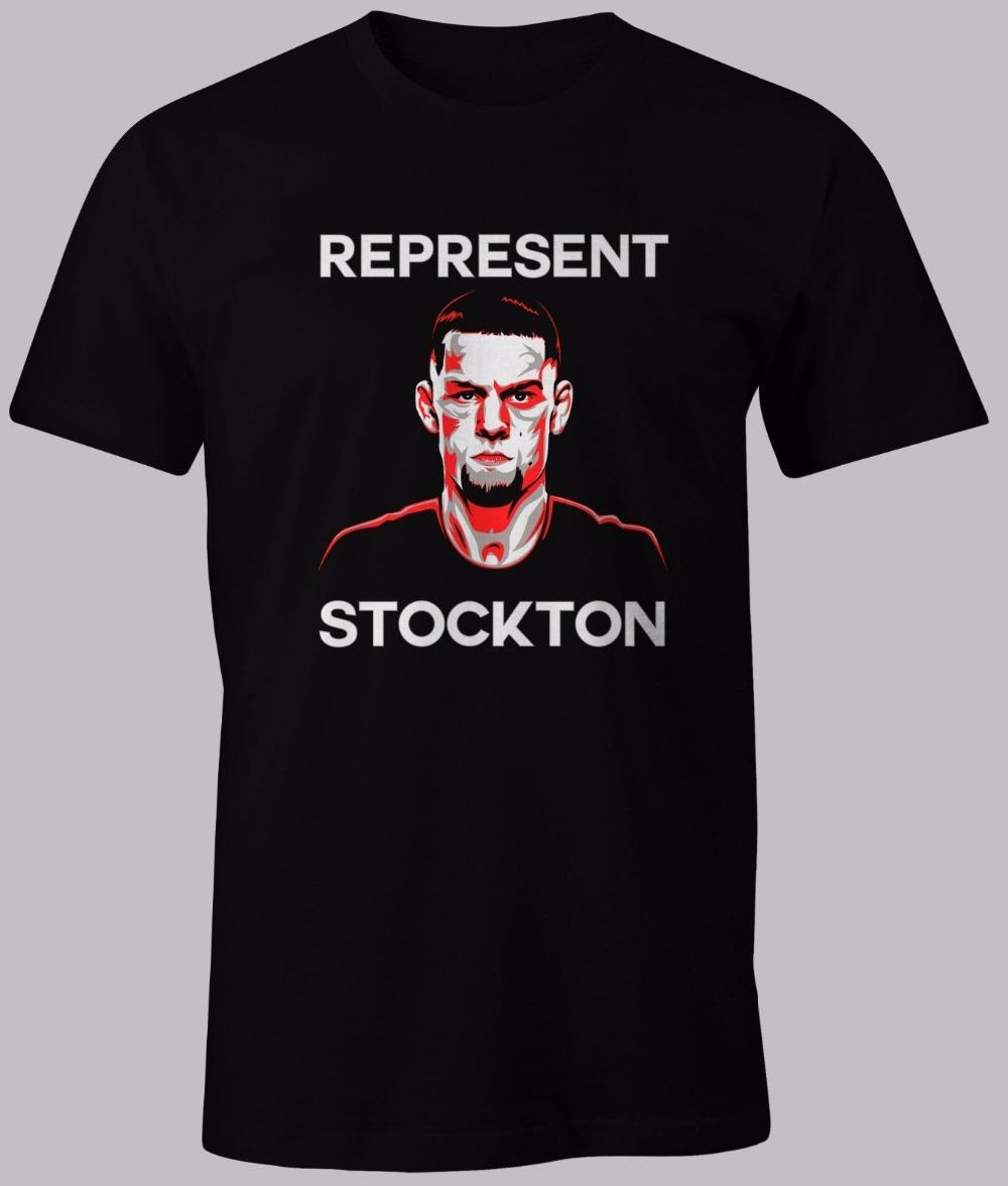 2019 lettres d'impression hommes T-shirts manches courtes Crew Tee shirts DIAZ REPRESENTENT STOCKTON 209 FIGHTER T-shirt