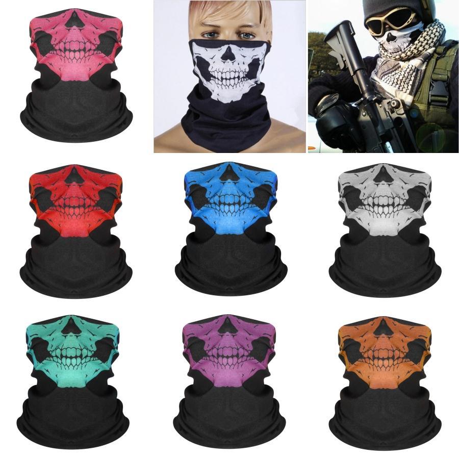 D5R2L Außenbergsteigen Reiten Schädel-Schal Magic Face Printed Gesichtsmaske Multi-Funktions-Outdoor-Sonnenschutz magischer Schal # 508