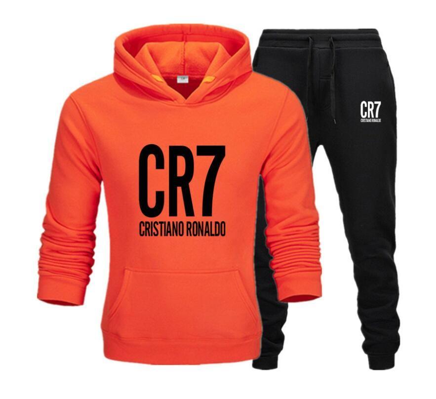New arrival CR7 sweatsuit Tracksuit Women Men hoodies + pants Mens Clothing Sweatshirt Pullover Casual Tennis Sportswear Suit Sweat Suits