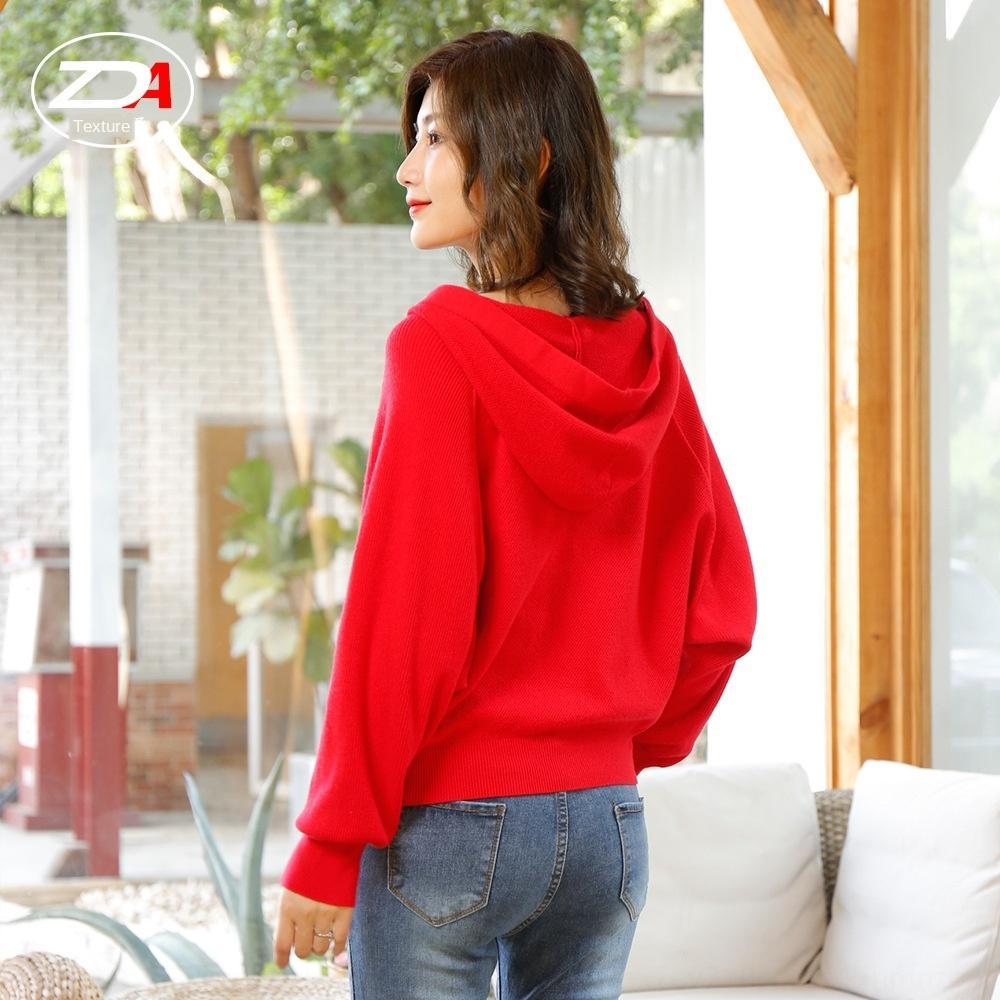 NDxVI 2020 novos coreano Primavera estilo e outono curta em malha de mangas compridas malha de manga comprida pelagem curta camisola solta casaco feminino