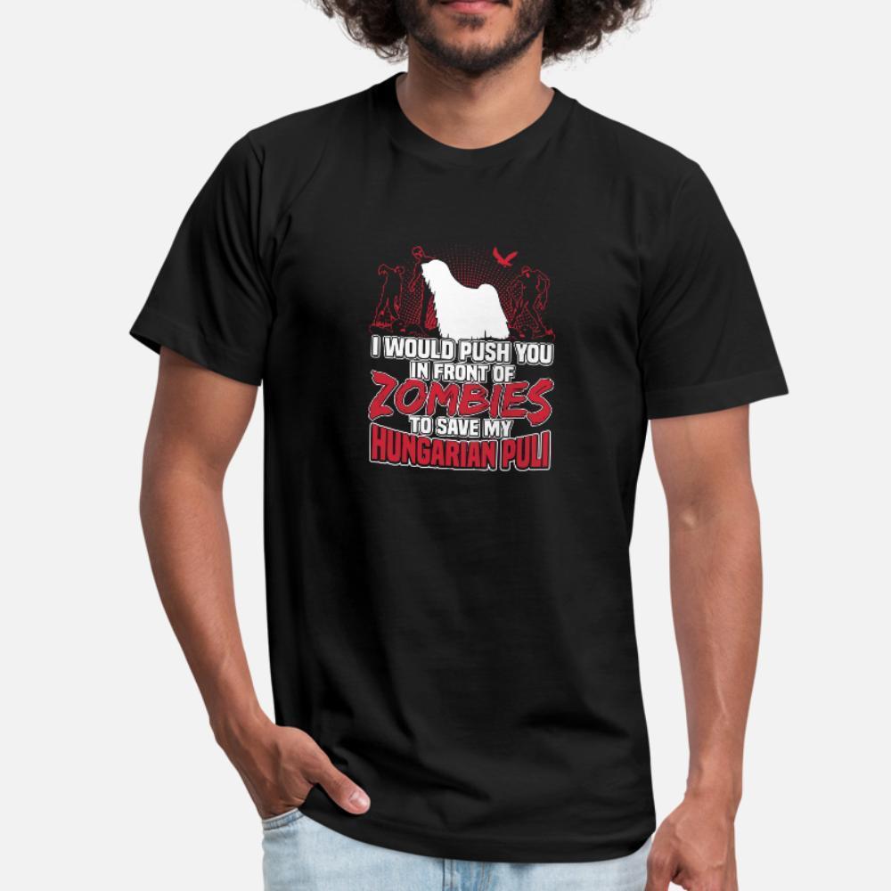Hungarian Puli camiseta de los hombres Camiseta del carácter más el tamaño 3XL nuevo de la manera Fit Gráfico de la novedad de la camisa del verano