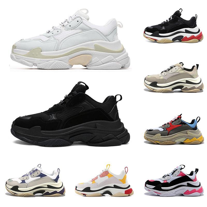 2020 triple s üçlü s moda tasarımcısı ayakkabı platformu spor ayakkabı erkekler kadınlar için lüks siyah bred beyaz yeşil pembe erkek rahat ayakkabı açık yürüyüş