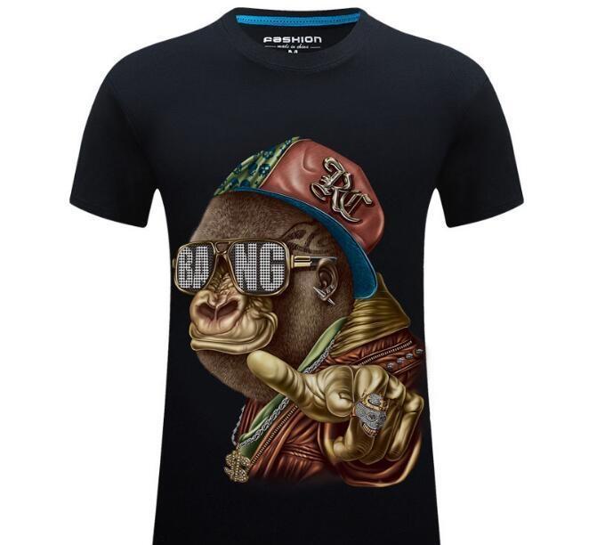 Heiße Verkäufe Tierdruck-T-Shirt der Männer T Shirts Mode Gezeiten 3D Männer Sweatshirt T Shirts Tops Männer-Frauen-T-Shirt Multiple Farbe wählbar