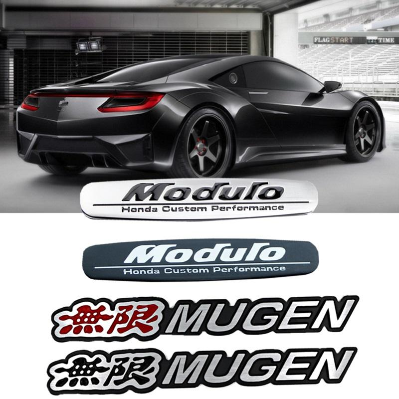 Yeni 3D Alüminyum Mugen Amblem Krom Logo Arka Rozet Araç Gövde Sticker Araba Şekillendirme İçin Honda Civic Accord CRV Fit