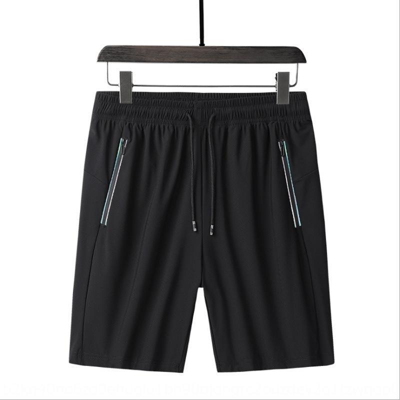 ocasional de los hombres cosechó los pantalones de malla transpirable deportes de playa de verano pantalones acondicionado Pantalones cortos y pantalones cortos de gran tamaño sueltos hielo Sil