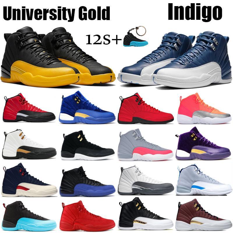 12 12 s Mens Sapatos de Basquete 2019 Nova Michigan Wntr Ginásio Vermelho NYC OVO de Lã de XII Sapatos de Grife Esporte Tênis Tamanho 40-47