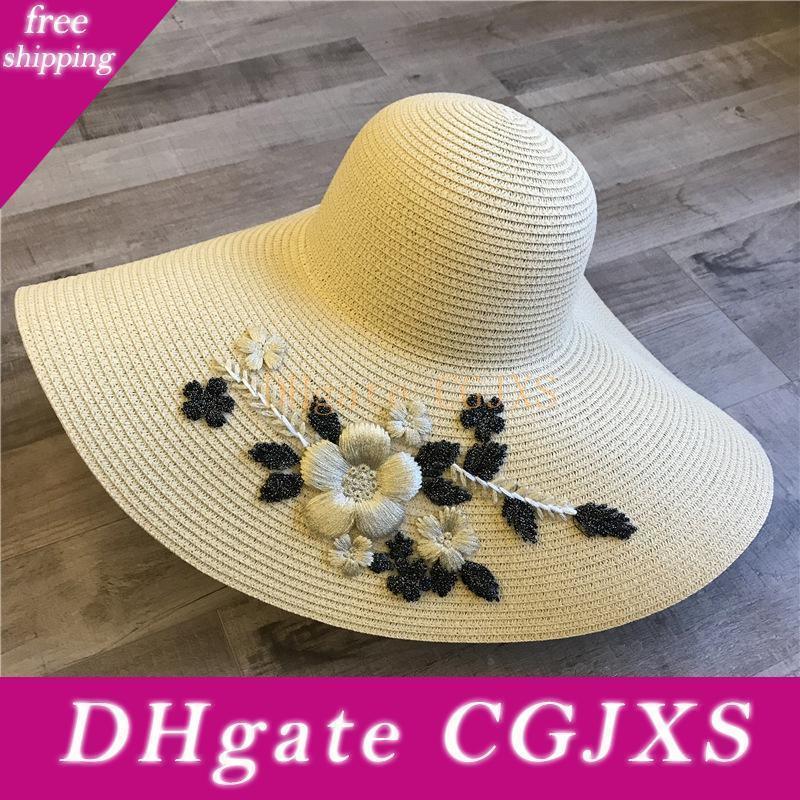 Criada de las novias de disquete de playa del verano sombreros de Sun de luna de miel Flor tres dimensional dama de honor Criada de Fiesta Gorra