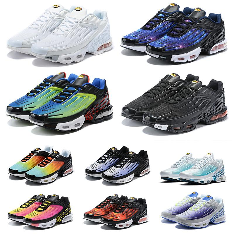 TN Plus 3 Turned Running Shoes All Black Triple White Volt Red Camo Classic TN 3 Womens Mens Trainers Outdoor Runners Sports Sneakers