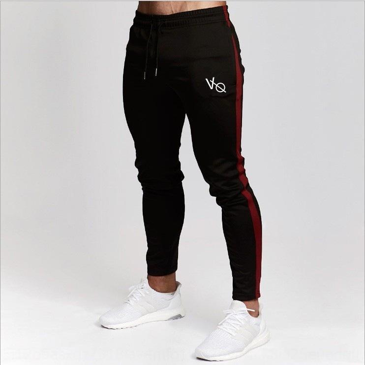 çalışan spor pamuk pantolon fermuar fermuar Yeni kas spor kardeşler dar kesim Spor Boş pamuk pantolon